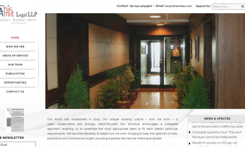 Slider-1Chir Amrit Legal LLP- website screenshot_1