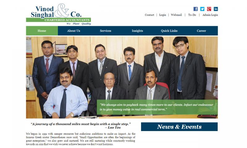 Vinod Singhal & Co. - website screenshot_1