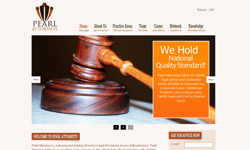 Pearl Attorneys - website screenshot_1