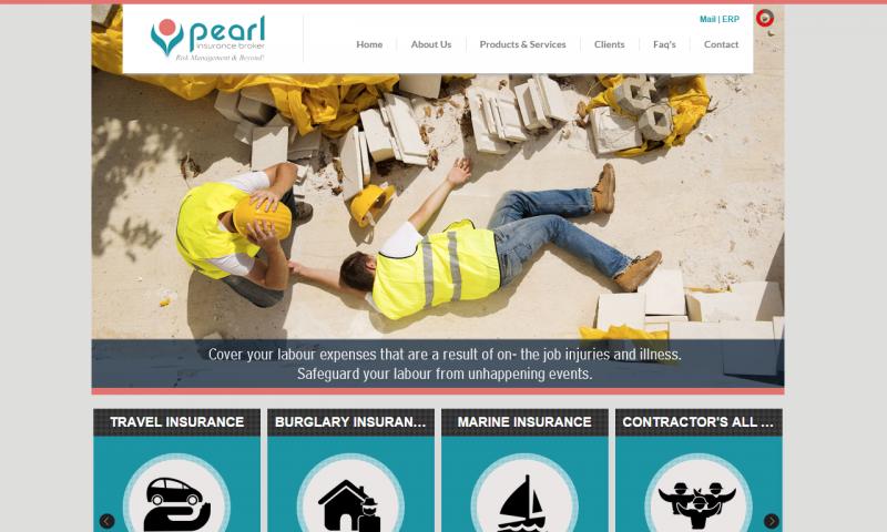 Pearl Insurance Broker - website screenshot_1