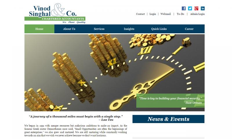Vinod Singhal & Co. - website screenshot_2