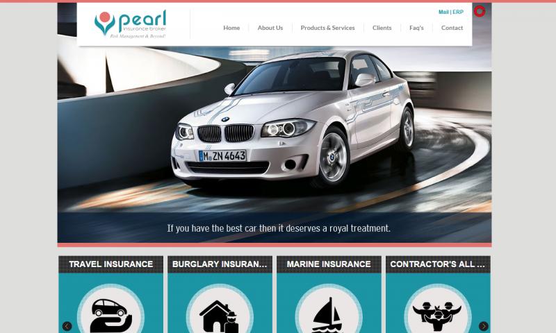 Pearl Insurance Broker - website screenshot_2